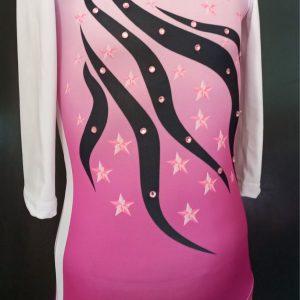 Roze triko za gimnastiku za devojcice