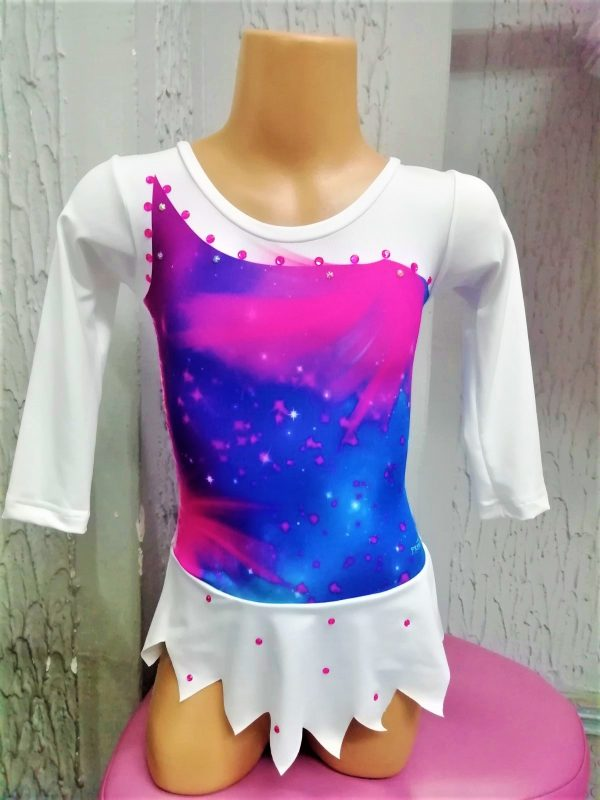 Dečiji triko za gimnastiku,balet,klizanje sa suknjicom