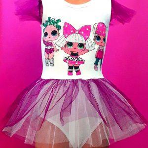 haljina za balet triko sa til suknjicom lol lutke