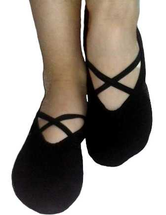 sportske baletanke za balet gimnastiku ples crne