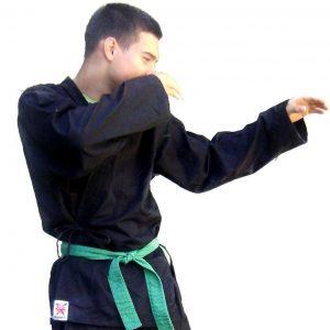 Crni kimono za nindjucu i karate dečiji