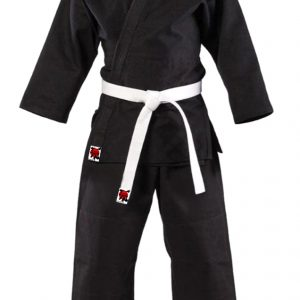 Crni kimono za nindjucu i karate za odrasle