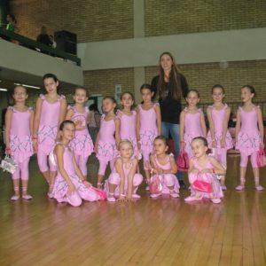 roze kostim za balet helanke za decu roze za ples gimnastiku