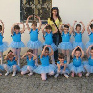 triko za balet svetlo plavi viseslojna til baletska suknjica za decu