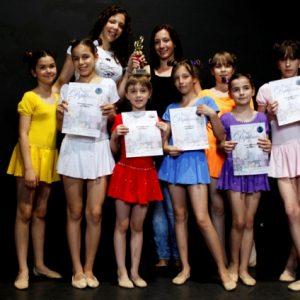 triko sa suknjicom za balet dance ples za decu
