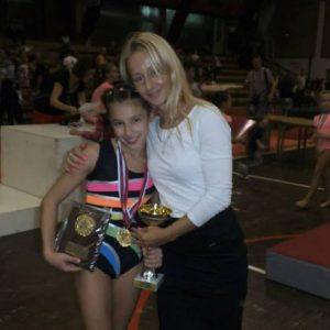 Triko za gimnastiku Andjela Djurdjevic prvakinja Srbije u gimnastici