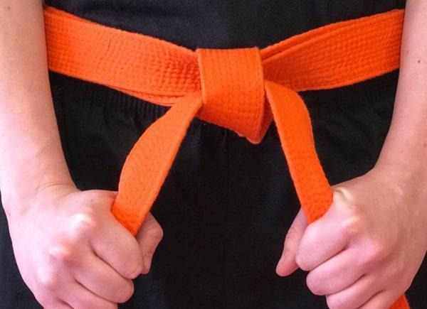 karate dzudo pojas NARANDZASTI ORANZ 1