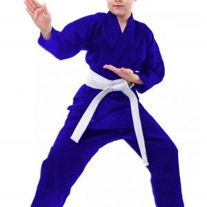 Deciji kimono za judo plavi od glatkog debelog kepera