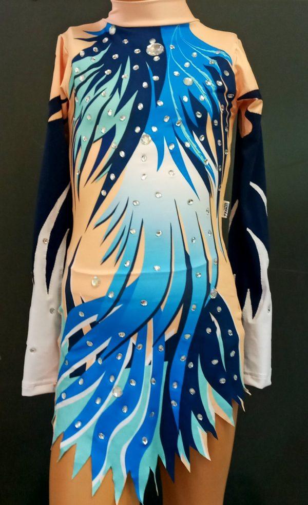Takmicarski triko za ritmicku gimnastiku i klizanje Plava ptica