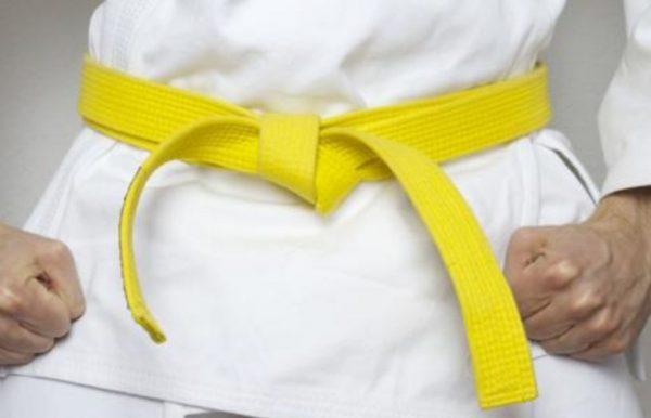 pojas za dzudo karate ZUTI 2 1