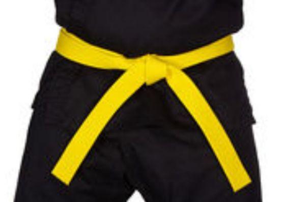 pojas za dzudo karate ZUTI 3 1