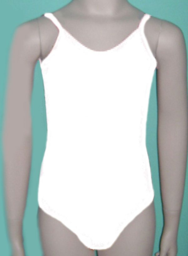 baletski triko beli na bretele