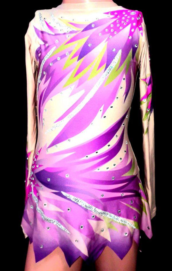 Triko haljina za ples ritmiku klizanje Ljubicasta ptica